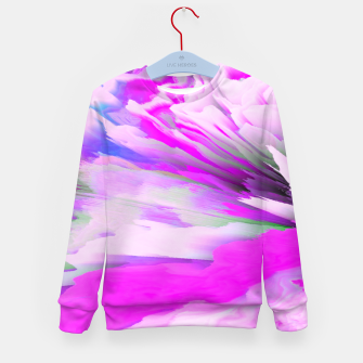 Friendly Enemy Glitched Fluid Art Kid's sweater thumbnail image