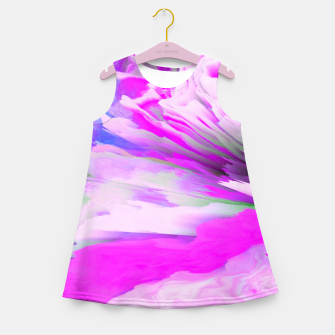 Friendly Enemy Glitched Fluid Art Girl's summer dress thumbnail image