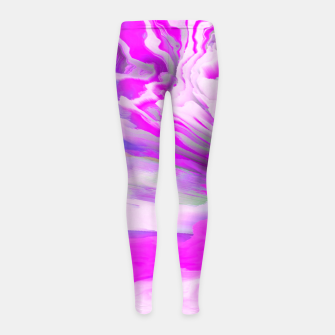 Friendly Enemy Glitched Fluid Art Girl's leggings thumbnail image