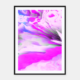 Friendly Enemy Glitched Fluid Art Framed poster thumbnail image
