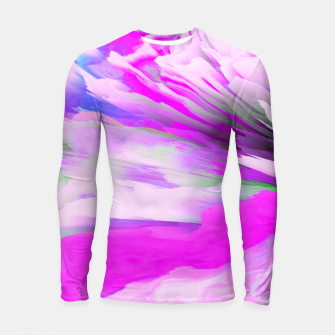 Friendly Enemy Glitched Fluid Art Longsleeve rashguard  thumbnail image