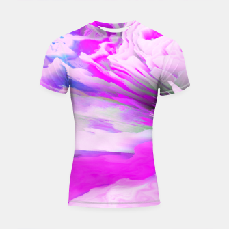 Friendly Enemy Glitched Fluid Art Shortsleeve rashguard thumbnail image