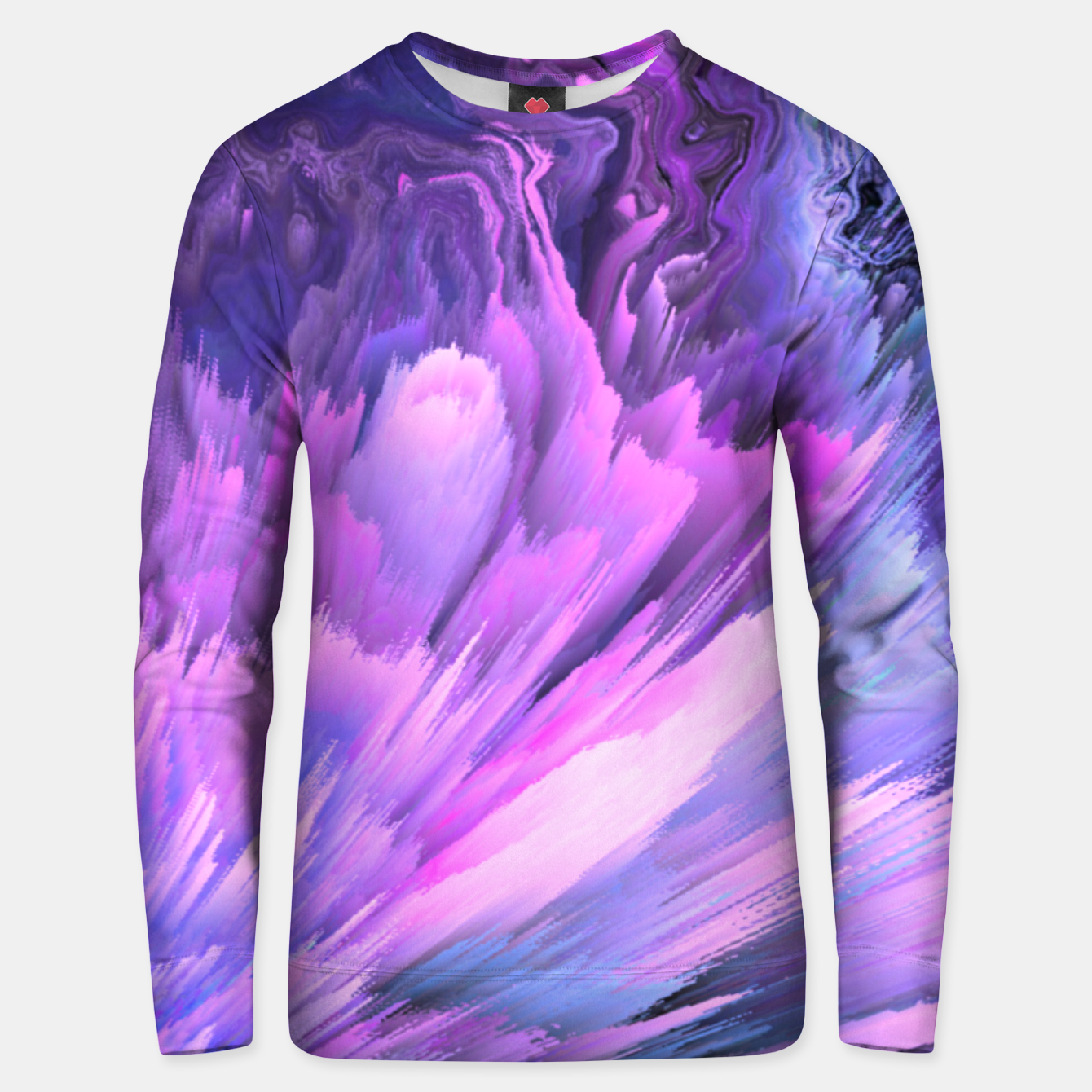 Image of Harmful Help Glitched Fluid Art Unisex sweater - Live Heroes