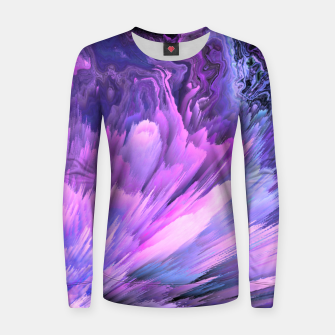 Harmful Help Glitched Fluid Art Women sweater thumbnail image