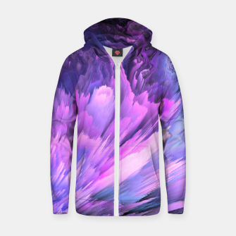 Harmful Help Glitched Fluid Art Zip up hoodie thumbnail image