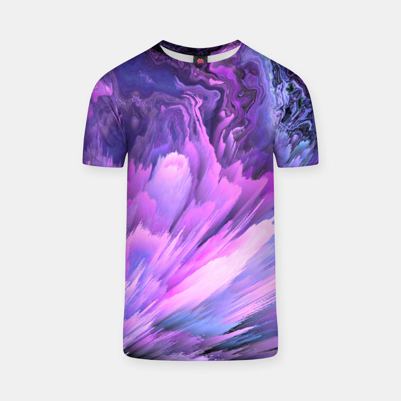 Image of Harmful Help Glitched Fluid Art T-shirt - Live Heroes