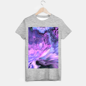 Harmful Help Glitched Fluid Art T-shirt regular thumbnail image