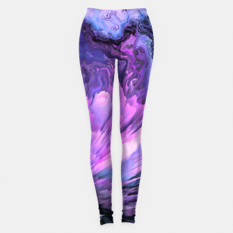 Harmful Help Glitched Fluid Art Leggings thumbnail image