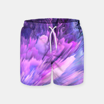 Harmful Help Glitched Fluid Art Swim Shorts thumbnail image