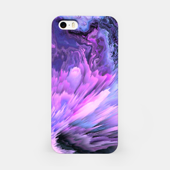 Harmful Help Glitched Fluid Art iPhone Case thumbnail image
