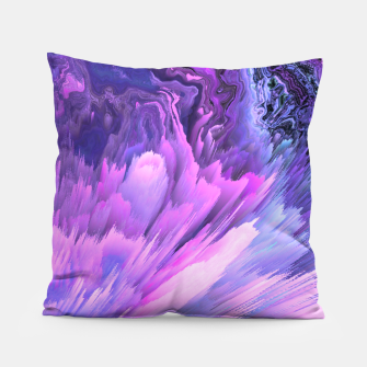 Harmful Help Glitched Fluid Art Pillow thumbnail image