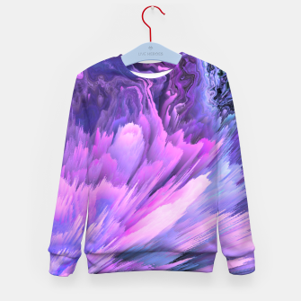 Harmful Help Glitched Fluid Art Kid's sweater thumbnail image