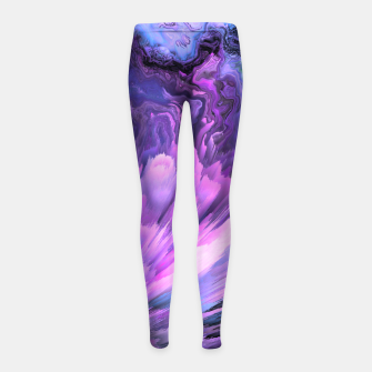 Harmful Help Glitched Fluid Art Girl's leggings thumbnail image