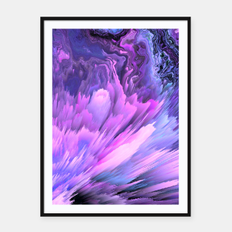 Harmful Help Glitched Fluid Art Framed poster thumbnail image