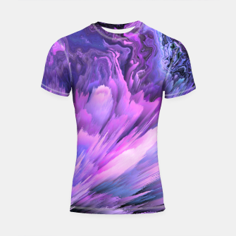 Harmful Help Glitched Fluid Art Shortsleeve rashguard thumbnail image