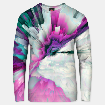 Thumbnail image of Obvious Subtlety Glitched Fluid Art Unisex sweater, Live Heroes