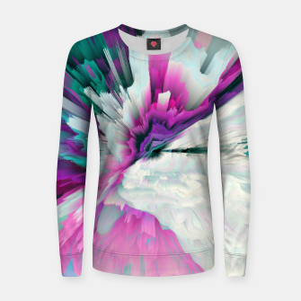 Thumbnail image of Obvious Subtlety Glitched Fluid Art Women sweater, Live Heroes