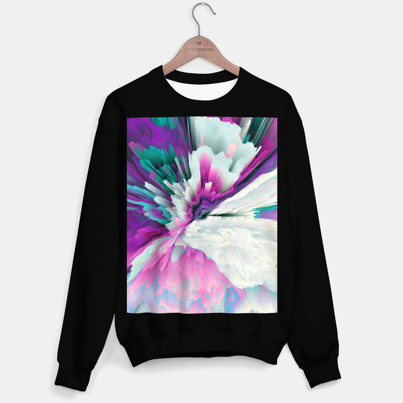 Image of Obvious Subtlety Glitched Fluid Art Sweater regular - Live Heroes