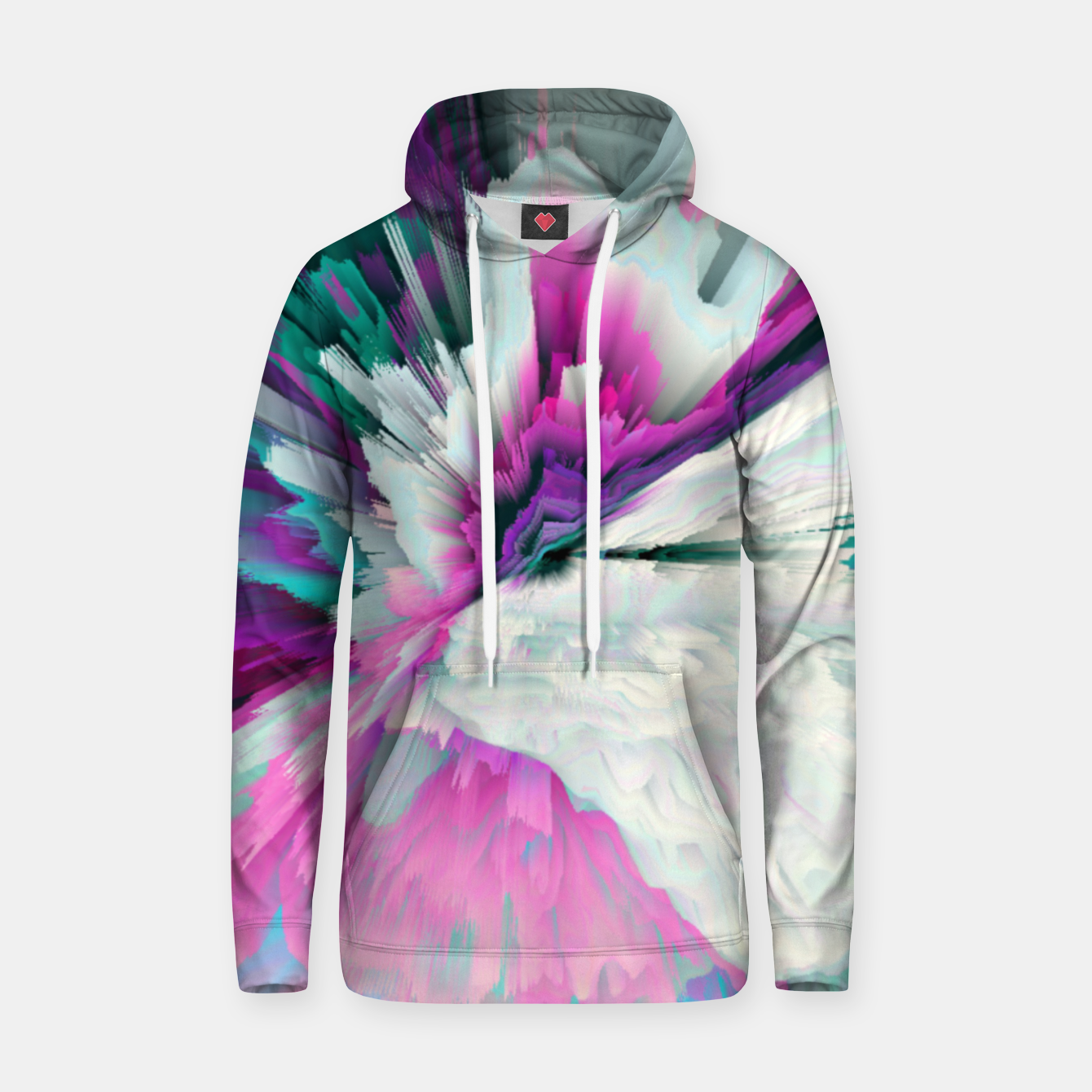 Image of Obvious Subtlety Glitched Fluid Art Hoodie - Live Heroes