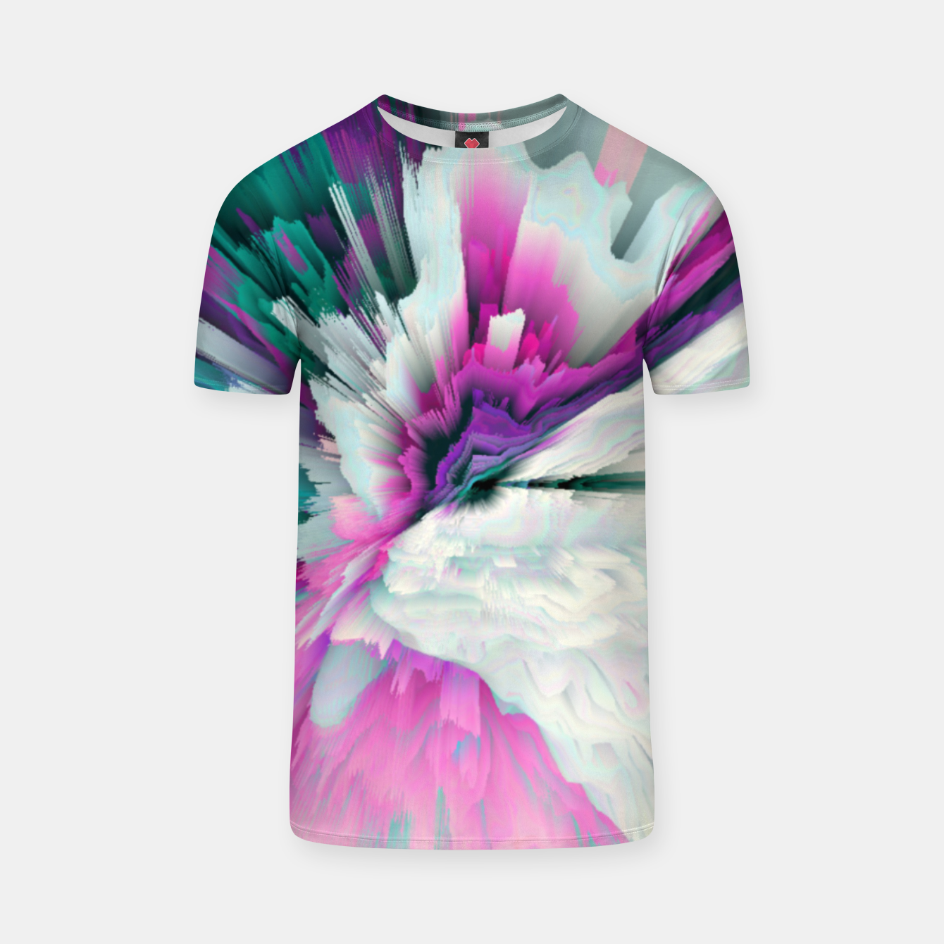 Image of Obvious Subtlety Glitched Fluid Art T-shirt - Live Heroes