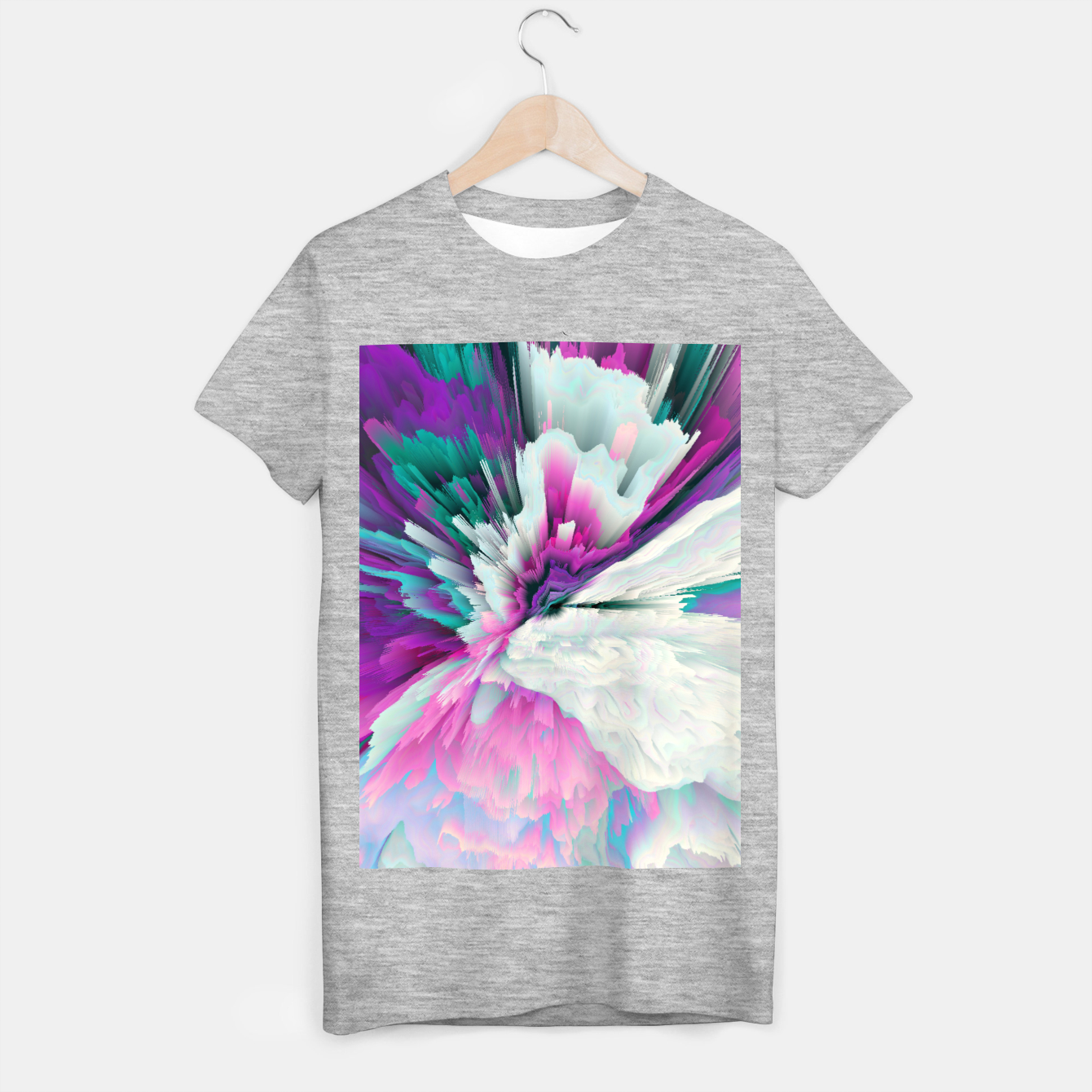 Image of Obvious Subtlety Glitched Fluid Art T-shirt regular - Live Heroes