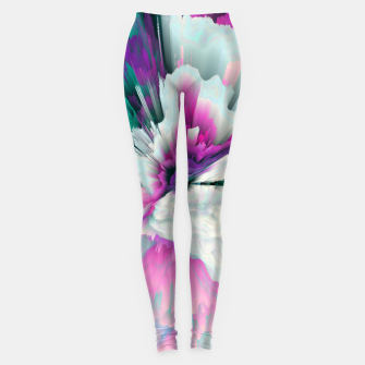Thumbnail image of Obvious Subtlety Glitched Fluid Art Leggings, Live Heroes