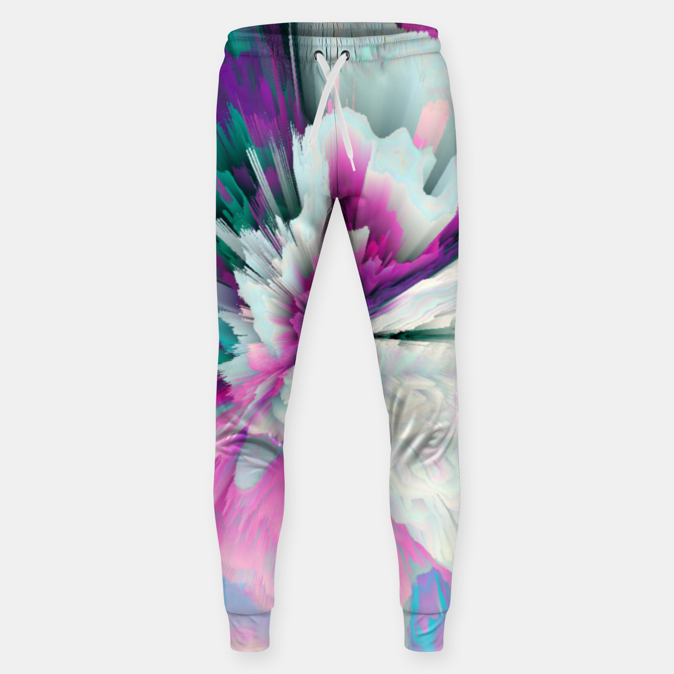 Image of Obvious Subtlety Glitched Fluid Art Sweatpants - Live Heroes