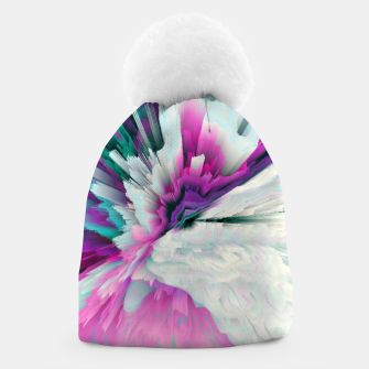 Thumbnail image of Obvious Subtlety Glitched Fluid Art Beanie, Live Heroes