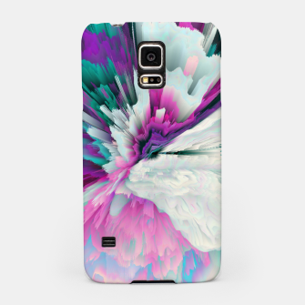 Obvious Subtlety Glitched Fluid Art Samsung Case thumbnail image