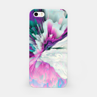 Obvious Subtlety Glitched Fluid Art iPhone Case thumbnail image