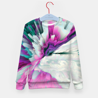 Obvious Subtlety Glitched Fluid Art Kid's sweater thumbnail image