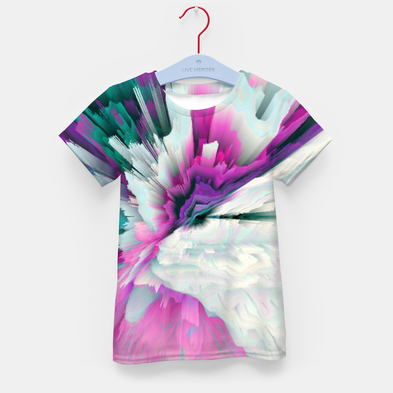 Image of Obvious Subtlety Glitched Fluid Art Kid's t-shirt - Live Heroes