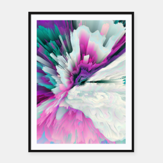 Thumbnail image of Obvious Subtlety Glitched Fluid Art Framed poster, Live Heroes