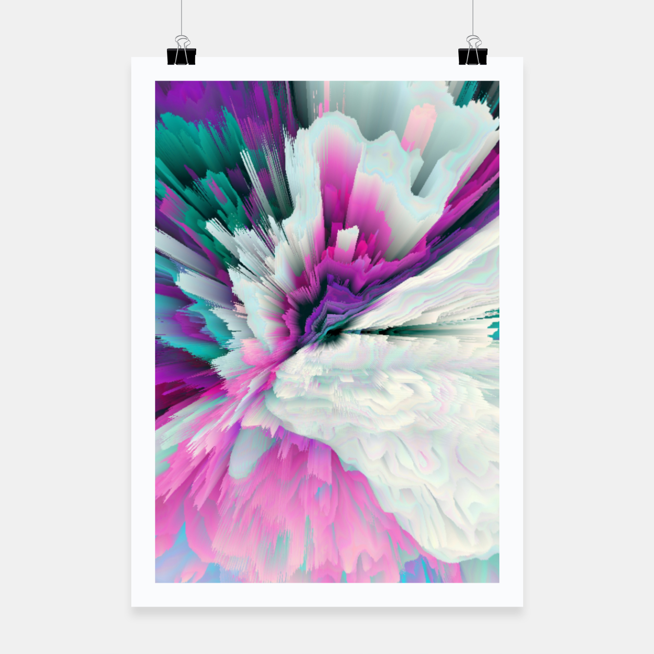 Image of Obvious Subtlety Glitched Fluid Art Poster - Live Heroes