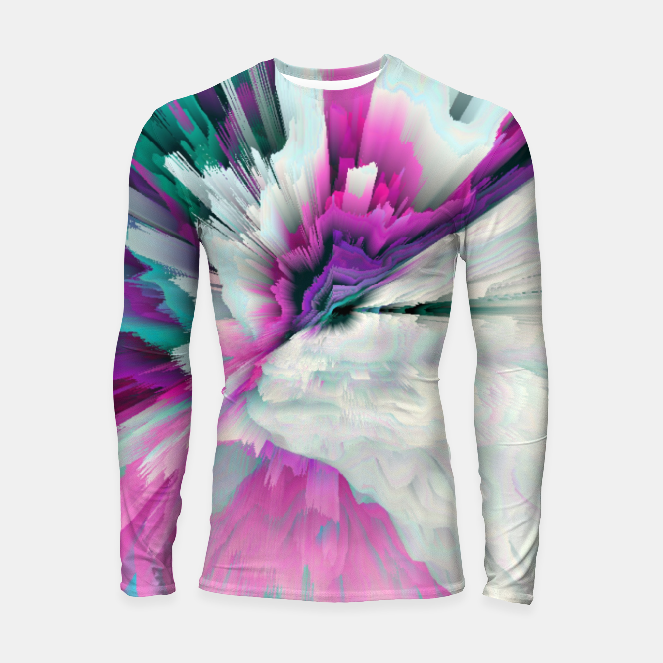 Image of Obvious Subtlety Glitched Fluid Art Longsleeve rashguard  - Live Heroes