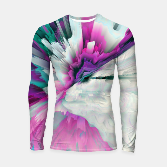 Thumbnail image of Obvious Subtlety Glitched Fluid Art Longsleeve rashguard , Live Heroes