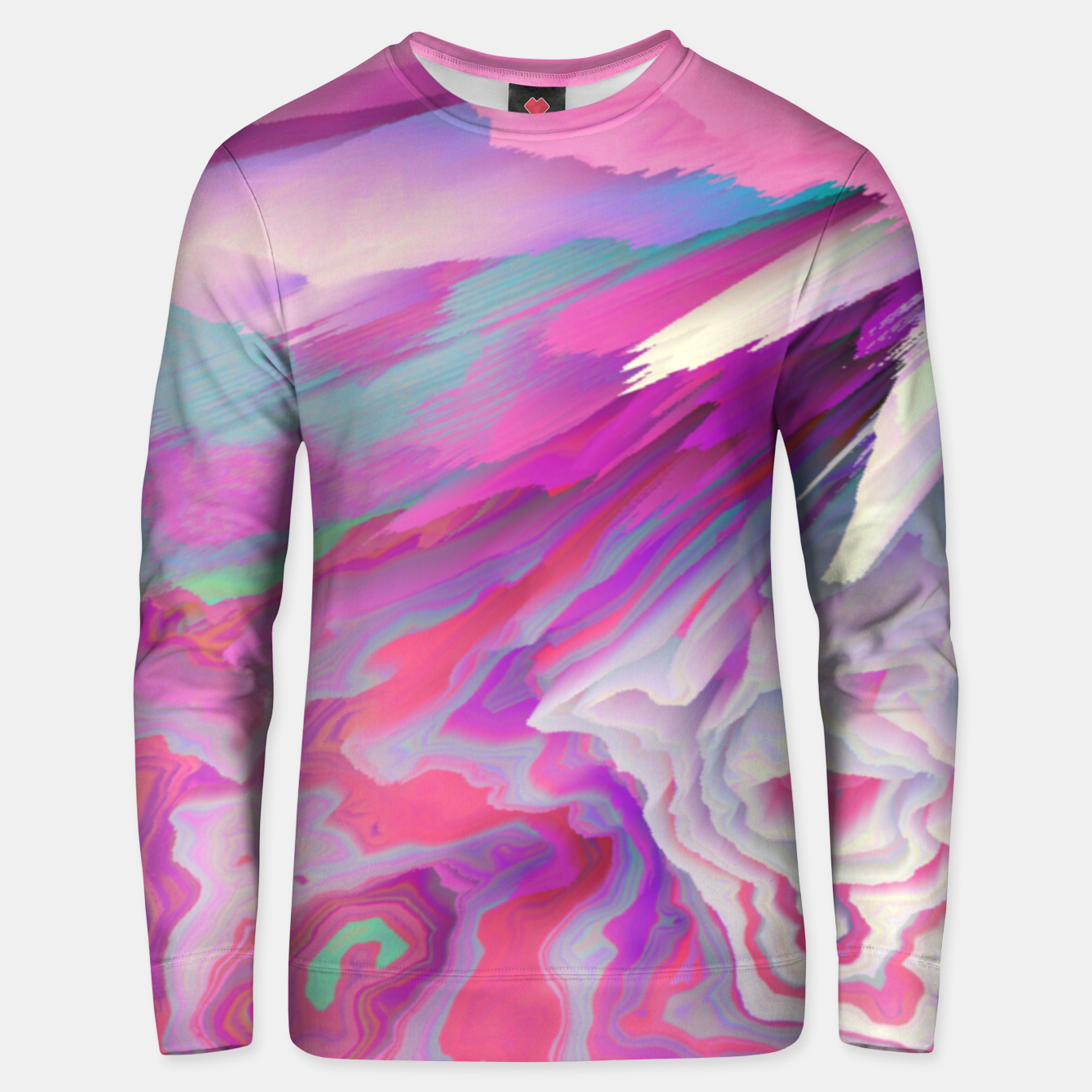 Image of Loud Silence Glitched Fluid Art Unisex sweater - Live Heroes