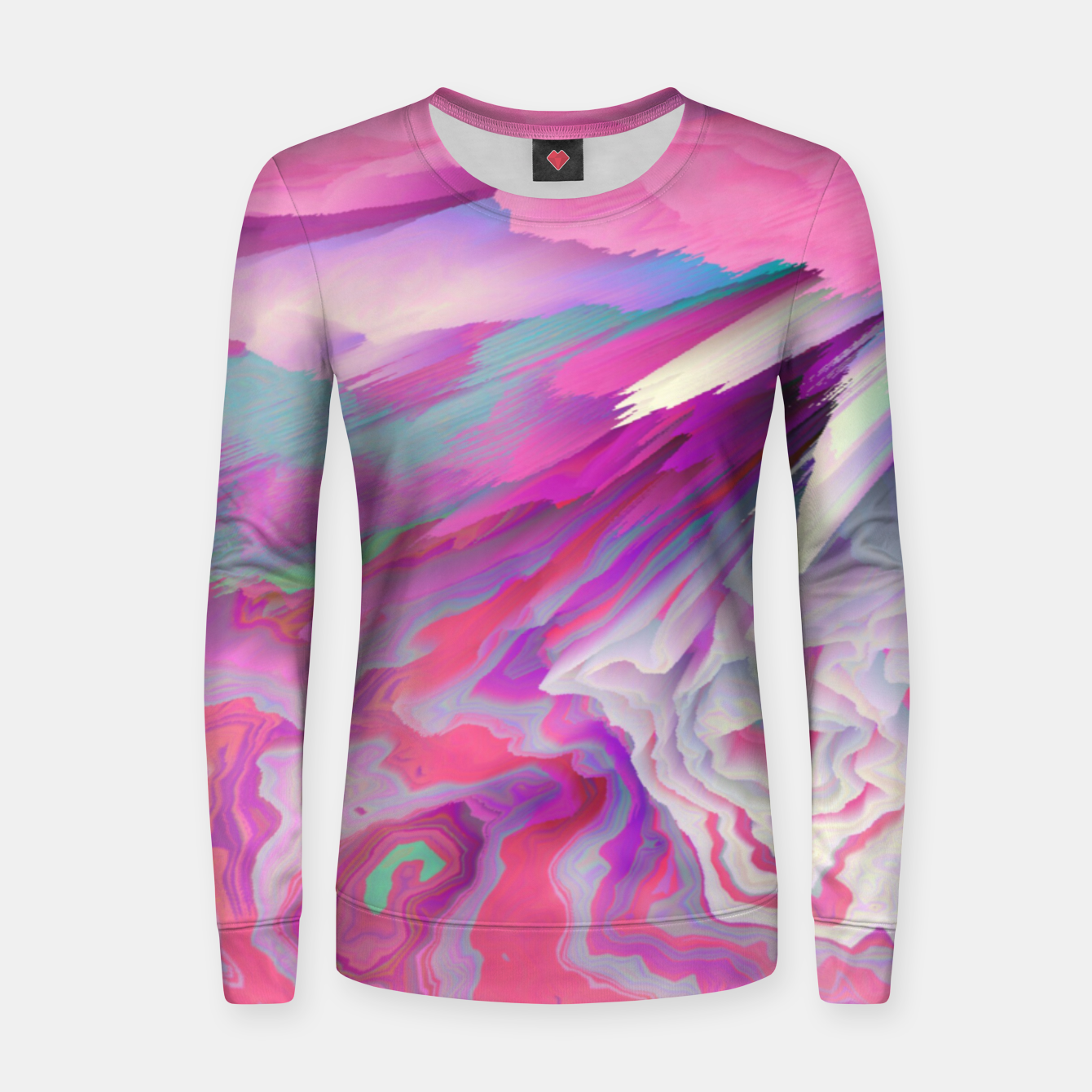 Image of Loud Silence Glitched Fluid Art Women sweater - Live Heroes