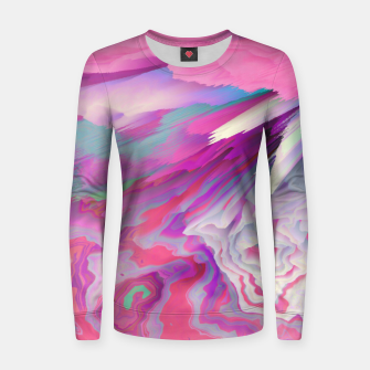 Loud Silence Glitched Fluid Art Women sweater thumbnail image