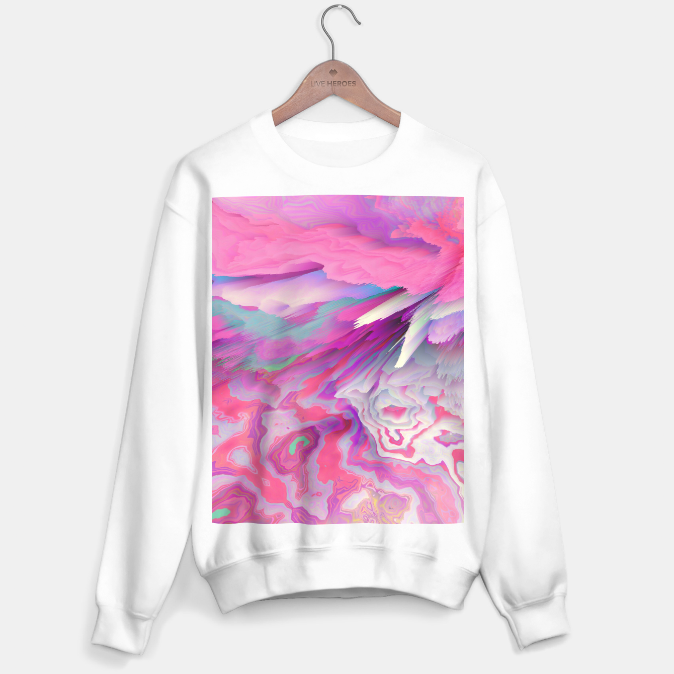Image of Loud Silence Glitched Fluid Art Sweater regular - Live Heroes