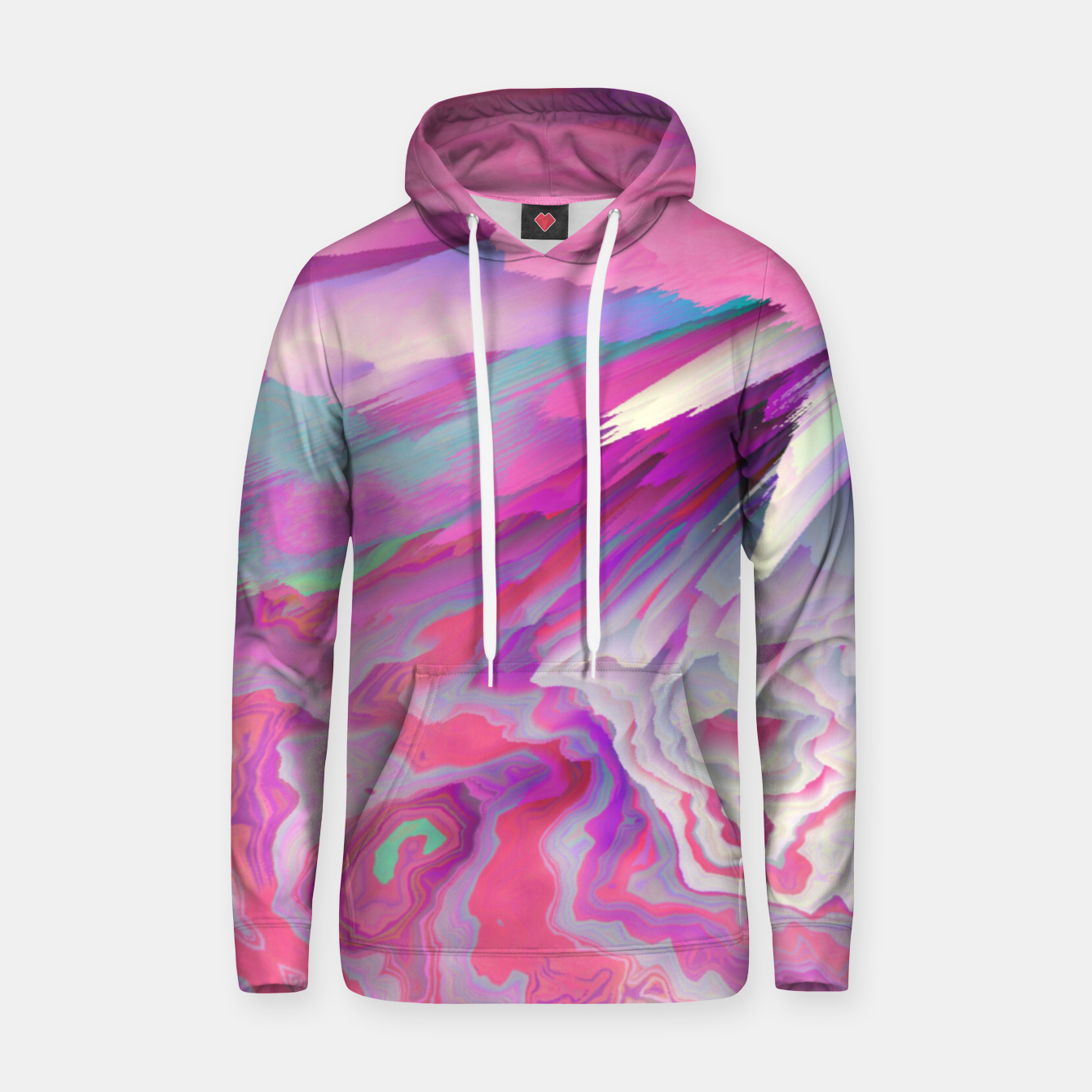 Image of Loud Silence Glitched Fluid Art Hoodie - Live Heroes