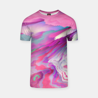Loud Silence Glitched Fluid Art T-shirt thumbnail image