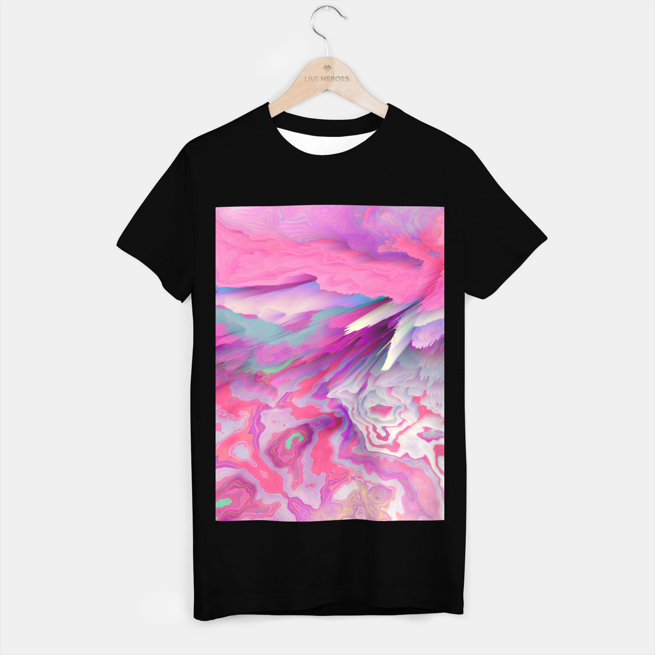 Image of Loud Silence Glitched Fluid Art T-shirt regular - Live Heroes