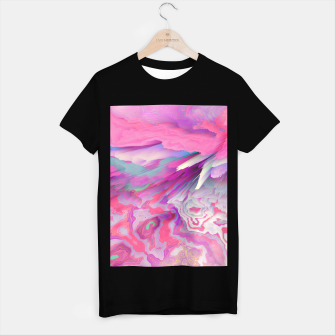 Miniatur Loud Silence Glitched Fluid Art T-shirt regular, Live Heroes