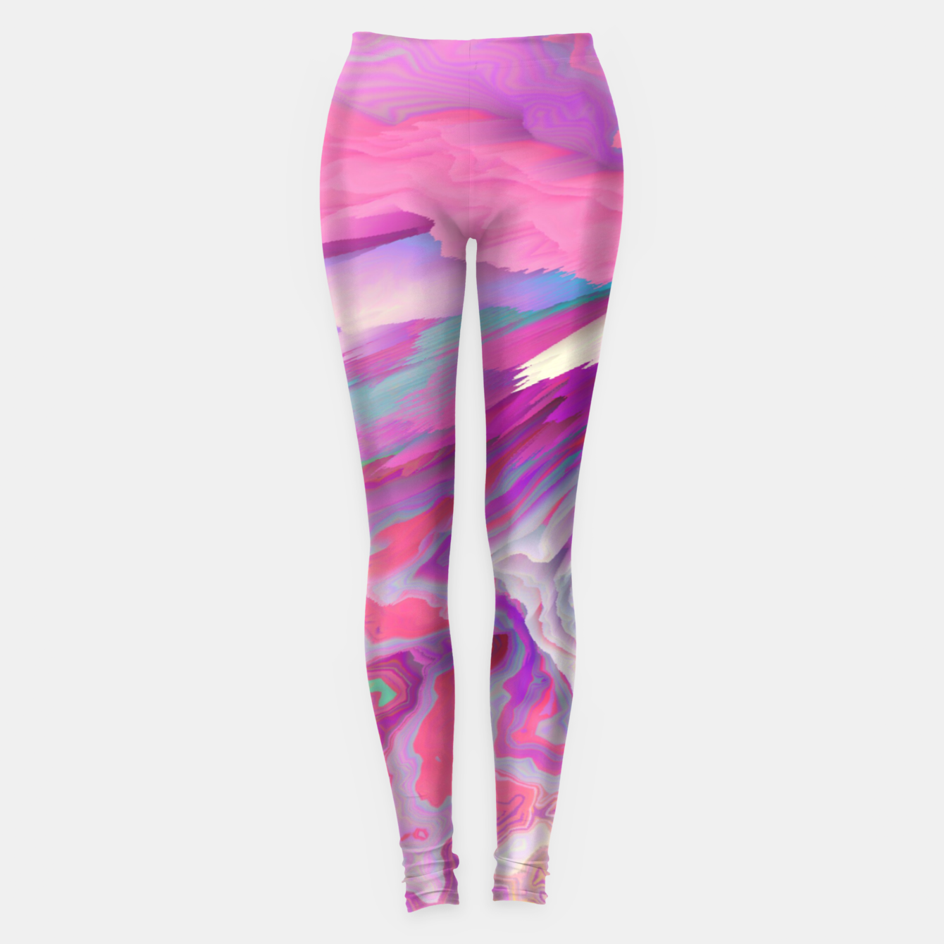 Image of Loud Silence Glitched Fluid Art Leggings - Live Heroes