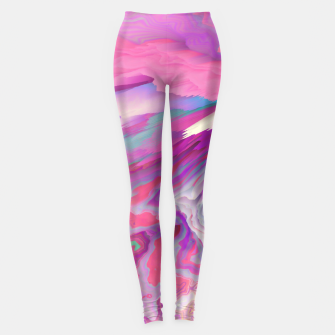 Loud Silence Glitched Fluid Art Leggings thumbnail image