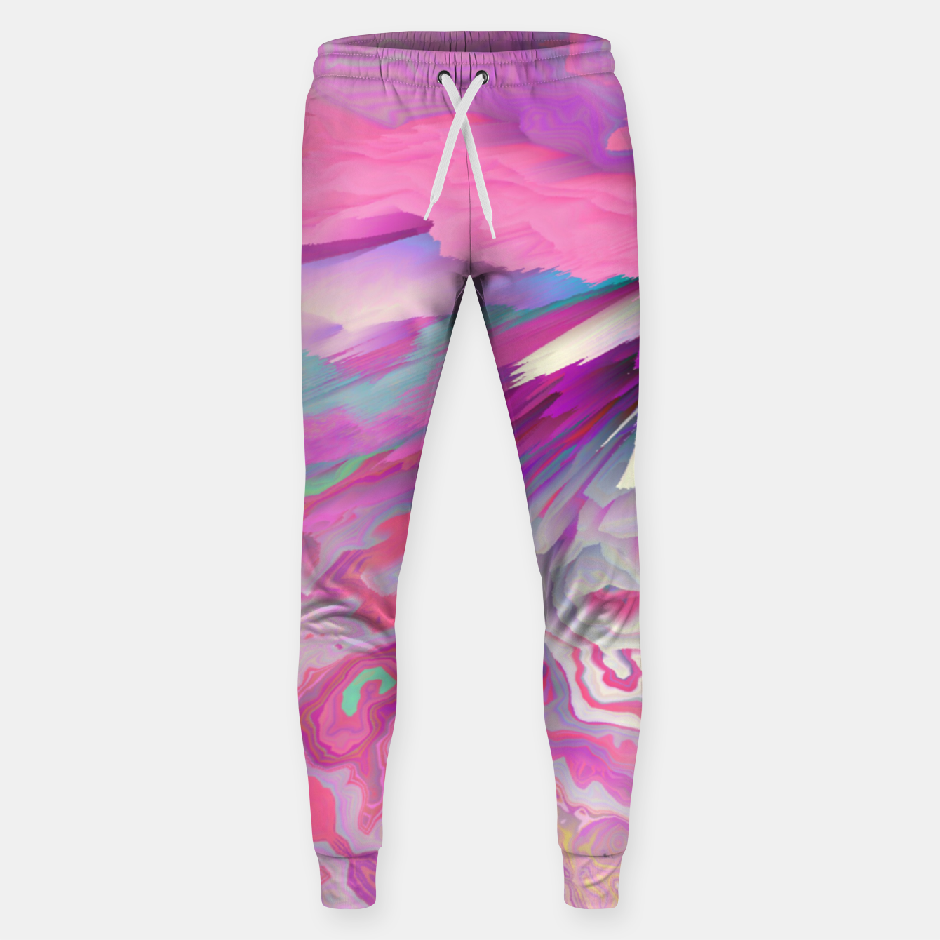 Image of Loud Silence Glitched Fluid Art Sweatpants - Live Heroes