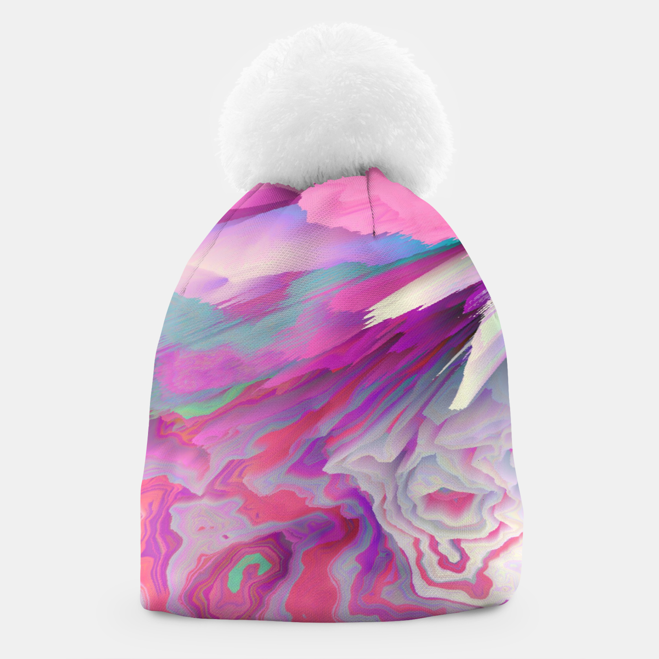 Image of Loud Silence Glitched Fluid Art Beanie - Live Heroes