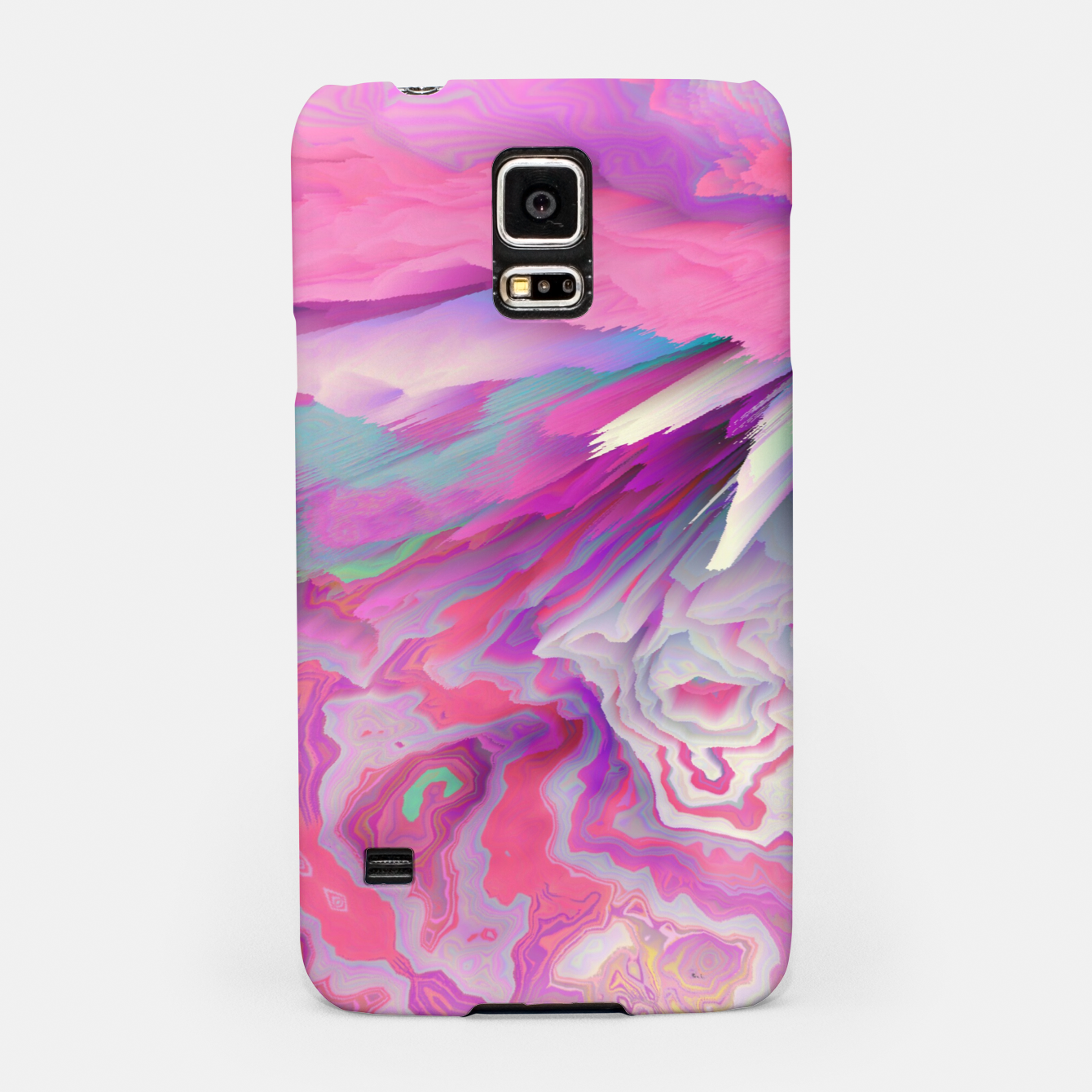 Image of Loud Silence Glitched Fluid Art Samsung Case - Live Heroes