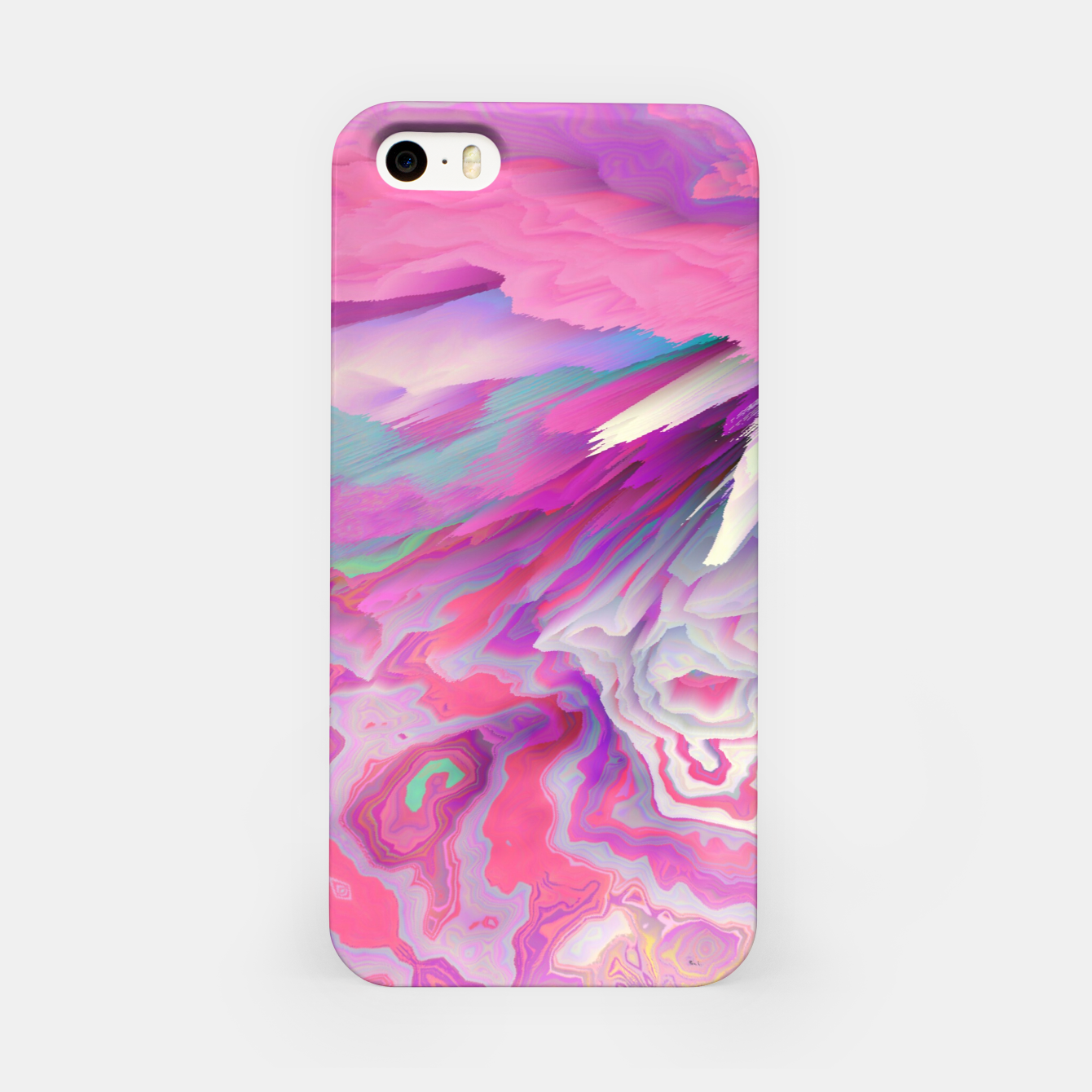 Image of Loud Silence Glitched Fluid Art iPhone Case - Live Heroes